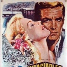 Cine: LOS INSACIABLES. GEORGE PEPPARD-CARROLL BAKER-EDWARD DMYTRYK. CARTEL ORIGINAL 1969. 70X100. Lote 106562459