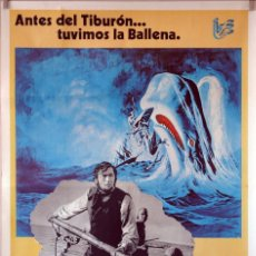 Cine: MOBY DICK. GREGORY PECK-JOHN HUSTON CARTEL ORGINAL 1978. 70X100. Lote 106562943