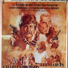Cine: CAZA SALVAJE. CHARLES BRONSON-LEE MARVIN. CARTEL ORIGINAL 1981. 70X100. Lote 106564959