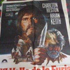Cine: CARTEL DE CINE- MOVIE POSTER. EL VALLE DE LA FURIA. Lote 118364320