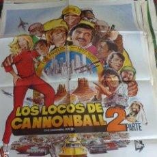 Cine: CARTEL DE CINE- MOVIE POSTER. LOS LOCOS DEL CANNONBALL 2. Lote 106934747