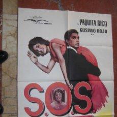 Cine: PAQUITA RICO CARTEL DE LA PELICULA S.O.S. ABUELITA 74 X 110 EDICCION ARGENTINA . Lote 106947355