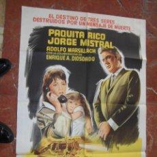 Cine: PAQUITA RICO CARTEL DE LA PELICULA HISTORIA DE UNA NOCHE 74 X 110 EDICCION ARGENTINA . Lote 106947551