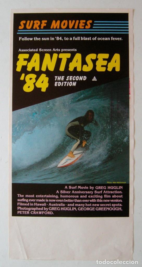 POSTER ORIGINAL AUSTRALIA / SURF / FANTASEA 84' / 1984 / 34X68 CM (Cine - Posters y Carteles - Documentales)