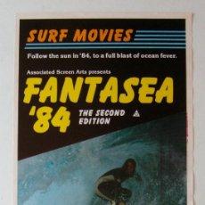 Cine: CARTEL ORIGINAL AUSTRALIA / 1984 / SURF / AUSTRALIA / FANTASEA 84' / 34X68 CM. Lote 107004403