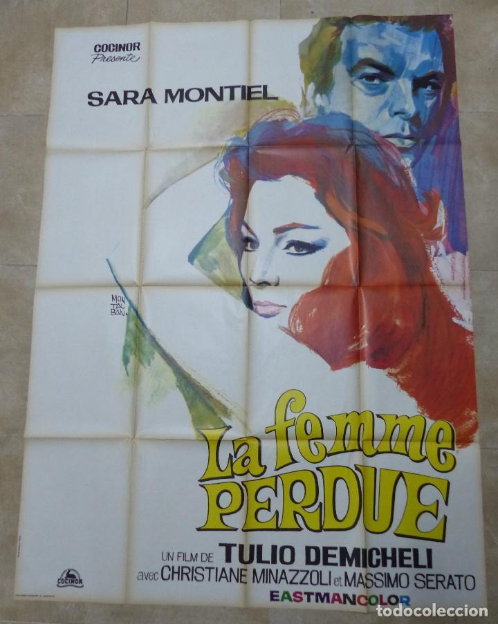 LA MUJER PERDIDA, LA FEMME PERDUE - SARA MONTIEL - CARTEL GRANDE FRANCES - AÑO 1966 (Cine - Posters y Carteles - Clasico Español)