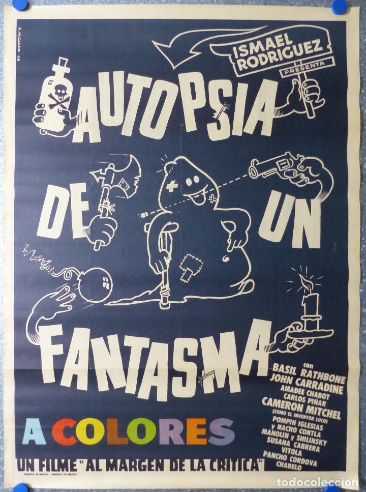 AUTOPSIA DE UN FANTASMA - BASIL RATHBONE, JOHN CARRADINE, AMADEE CHABOT - AÑO 1968 (Cine - Posters y Carteles - Comedia)
