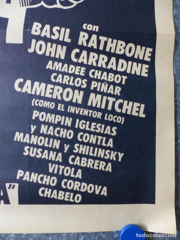 Cine: AUTOPSIA DE UN FANTASMA - BASIL RATHBONE, JOHN CARRADINE, AMADEE CHABOT - AÑO 1968 - Foto 4 - 107223643
