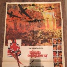 Cine: CARTEL DE CINE DEL ESTRENO DE LA PELÍCULA LA BATALLA DE INGLATERRA (1969). Lote 107322187