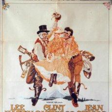 Cine: LA LEYENDA DE LA CIUDAD SIN NOMBRE. LEE MARVIN-CLINT EASTWOOD. CARTEL ORIGINAL 1970 70X100. Lote 107366067