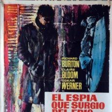 Cine: EL ESPÍA QUE SURGIÓ DEL FRÍO. RICHARD BURTON. CARTEL ORIGINAL1966. 70X100. Lote 107368395