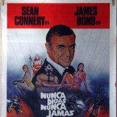 Cine: NUNCA DIGAS NUNCA JAMÁS. SEAN CONNERY. CARTEL ORIGINAL 1983. 70X100. Lote 107368843