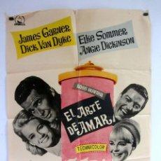 Cine: EL ARTE DE AMAR JAMES GARNER - DICK VAN DYKE 1965 CARTEL ORIGINAL 70X100. Lote 107578091