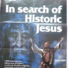 Cine: IN SEARCH OF HISTORIC JESUS MOVIE POSTER/1979/ONE SHEET. Lote 107690863