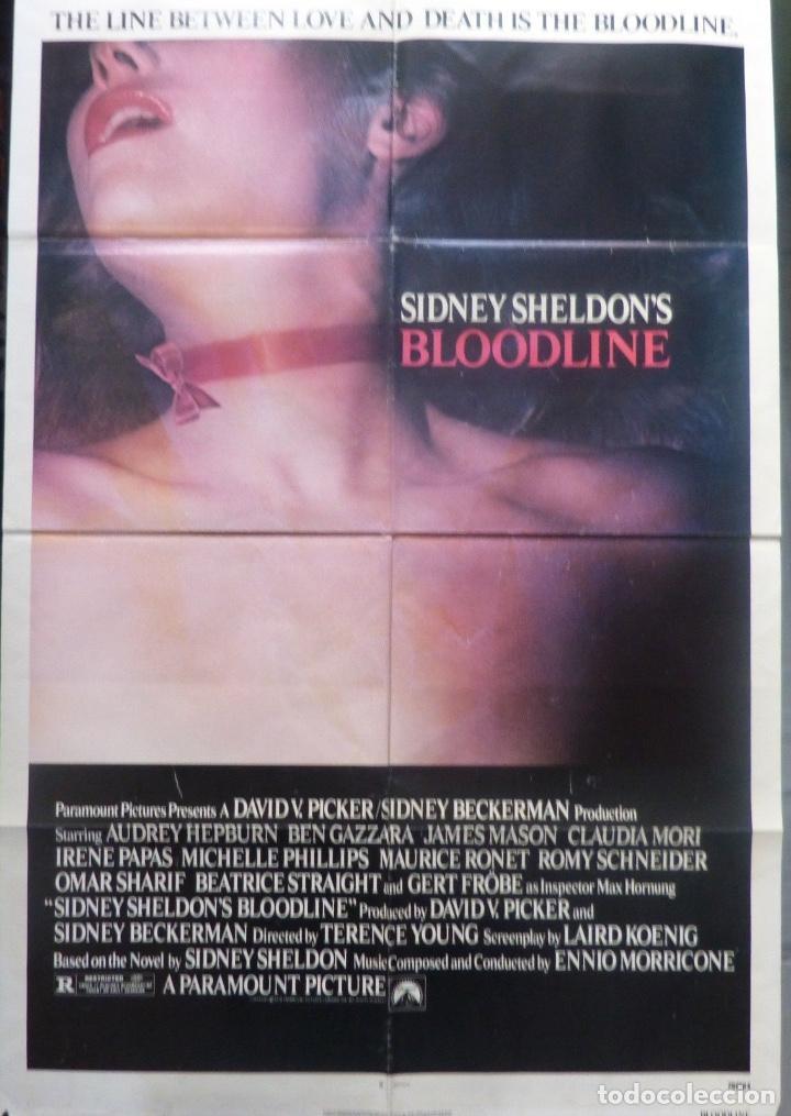 BLOODLINE/SIDNEY SHELDON´S/AUDREY HEPBURN/ONE SHEET/1979 (Cine - Posters y Carteles - Suspense)