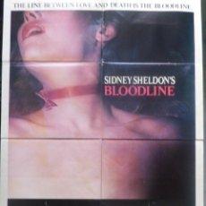 Cine: BLOODLINE/SIDNEY SHELDON´S/AUDREY HEPBURN/ONE SHEET/1979. Lote 107691599