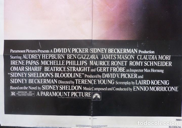 Cine: Bloodline/Sidney Sheldon´s/Audrey Hepburn/One sheet/1979 - Foto 2 - 107691599