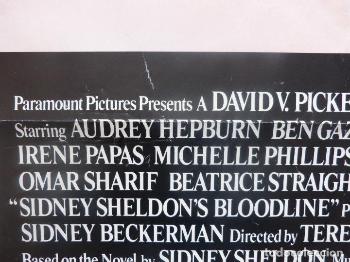 Cine: Bloodline/Sidney Sheldon´s/Audrey Hepburn/One sheet/1979 - Foto 4 - 107691599