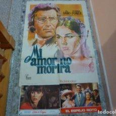 Cine: POSTER MI AMOR NO MORIRA + 2 POSTALES. Lote 107923103