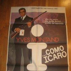 Cine: I...COMO ICARO, YVES MONTAND, HENRY VERNEUIL, ENNIO MORRICONE. Lote 108269415