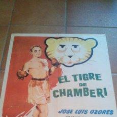 Cine: EL TIGRE DE CHAMBERI JOSE LUIS OZORES TONY LEBLANC POSTER ORIGINAL 70X50 REP 1962. Lote 108347466