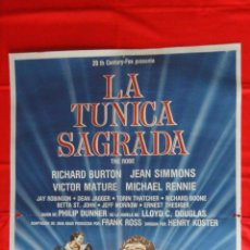 Cine: LA TUNICA SAGRADA, POSTER ORIGINAL, RICHARD BURTON, WALT DISNEY, 70X100 CMS.. Lote 108458707