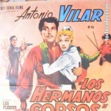 Cine: CARTEL POSTER CINE LOS HERMANOS CORSOS. Lote 108606555