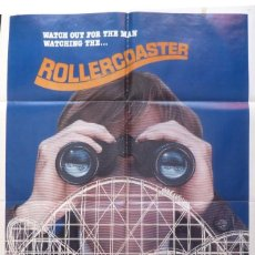 Cine: ROLLERCOASTER MOVIE POSTER,ONE SHEET,UNIVERSAL CITY STUDIOS,1977.. Lote 108672283