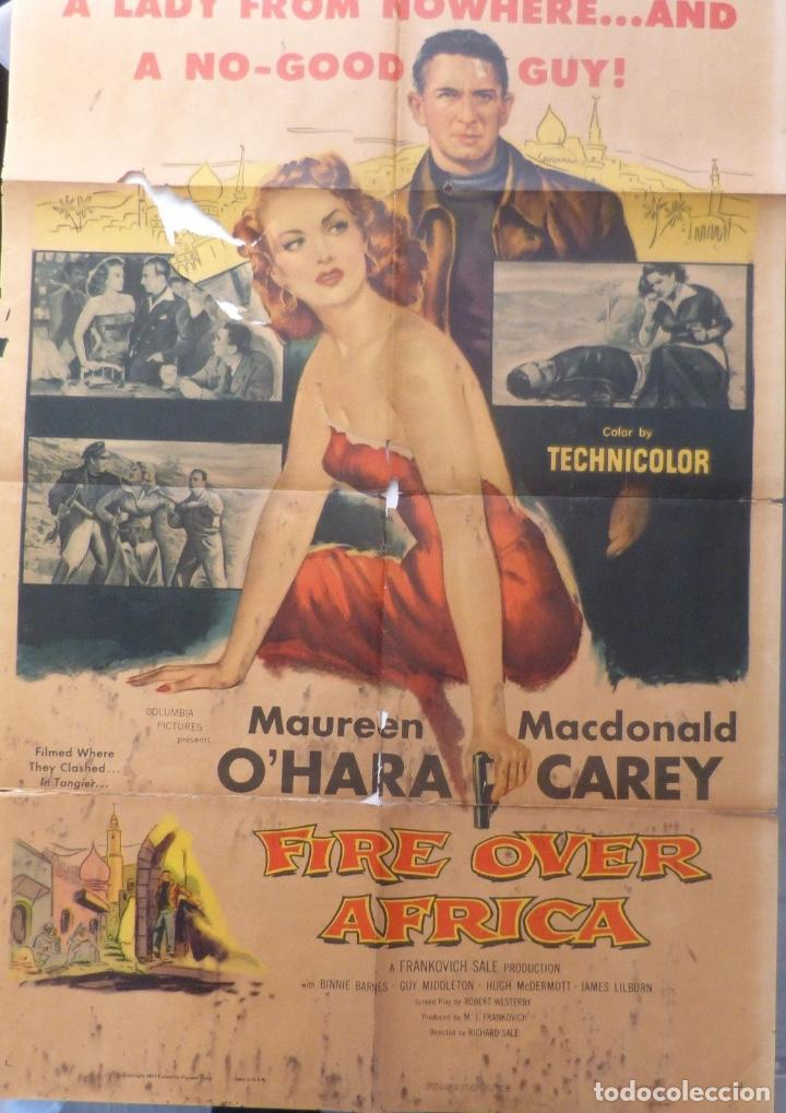 FIRE OVER AFRICA MOVIE POSTER,ONE SHEET,1954,COLUMBIA PICTURES (Cine - Posters y Carteles - Aventura)