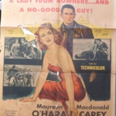Cine: FIRE OVER AFRICA MOVIE POSTER,ONE SHEET,1954,COLUMBIA PICTURES. Lote 108674051