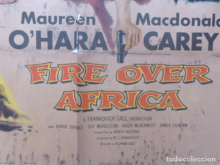 Cine: Fire over Africa movie poster,one sheet,1954,Columbia pictures - Foto 2 - 108674051