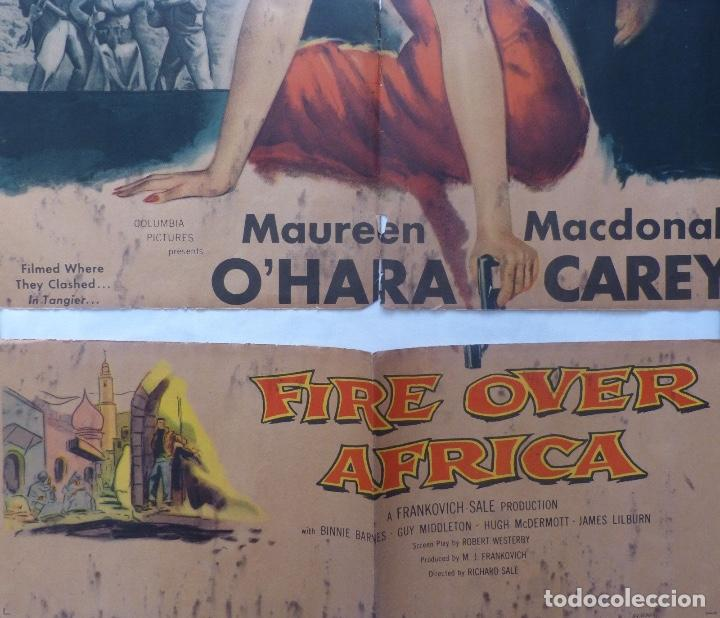 Cine: Fire over Africa movie poster,one sheet,1954,Columbia pictures - Foto 3 - 108674051