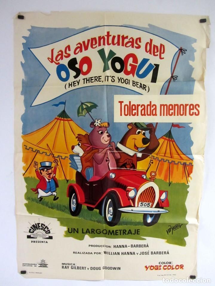 LAS AVENTURAS DEL OSO YOGUI (1965) CARTEL ORIGINAL DE ESTRENO 70X100 CMS. (Cine - Posters y Carteles - Infantil)