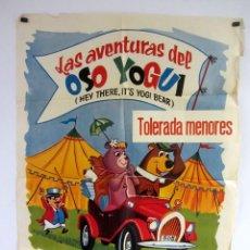 Cine: LAS AVENTURAS DEL OSO YOGUI (1965) CARTEL ORIGINAL DE ESTRENO 70X100 CMS.. Lote 108728215