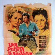 Cine: UNA PISTOLA AL AMANECER (1956) VIRGINIA MAYO, ROBERT STACK CARTEL ORIGINAL DE ESTRENO 70X100 CMS.. Lote 108729687
