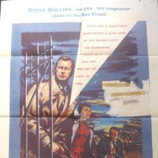 Cine: HELL ON FRISCO BAY MOVIE POSTER,ONE SHEET,1956,WARNER BROS. Lote 108738807