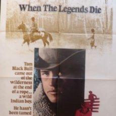 Cine: WHEN THE LEGENDS DIE,ONE SHEET,TWENTIETH CENTURY-FOX,1972. Lote 108760347