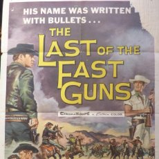 Cine: THE LAST OF THE FAST GUNS MOVIE POSTER,1958,ONE SHEET,GEORGE SHERMAN. Lote 108761071