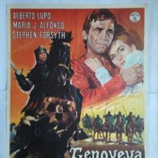 Cine: CARTEL CINE, GENOVEVA DE BRABANTE - ALBERTO LUPO - AÑO 1965 , C128. Lote 108778615