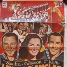 Cine: POSTER ORIGINAL 100X70 ,AÑO 1969, LEVANDO ANCLAS, FRANK SINATRA, ETC. . Lote 108782547
