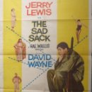 Cine: THE SAD SACK MOVIE POSTER,JERRY LEWYS,ONE SHEET,1958. Lote 108792939