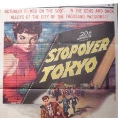 Cine: STOPOVER TOKYO MOVIE POSTER,1957,ONE SHEET,TWENTIETH CENTURY-FOX. Lote 108838179