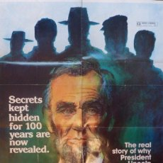 Cine: THE LINCOLN CONSPIRACY POSTER,ORIGINAL,1977. Lote 108840839