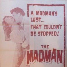 Cine: THE MADMAN POSTER ORIGINAL,27X41 INCHES,RARO. Lote 108841543