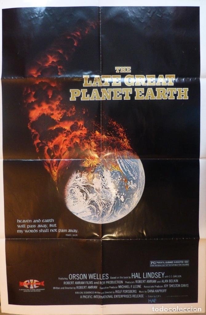 THE LATE GREAT PLANET EARTH ORIGINAL POSTER, 1976,ORSON WELLES. (Cine - Posters y Carteles - Documentales)