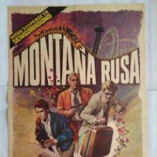 Cine: CARTEL CINE, MONTAÑA RUSA. GEORGE SEGAL, RICHARD WIDMARK, TIMOTHY BOTTOMS, 1977, ORIGINAL, C149. Lote 108855347
