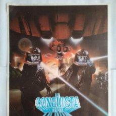 Cine: CARTEL CINE, LA CONQUISTA DE LA TIERRA. KENT MCCORD, 1981, C156. Lote 108856723