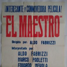 Cine: CARTEL CINE, CARTEL CINE, EL MAESTRO - ALDO FABRIZI , POSTER ORIGINAL , C161. Lote 108859307