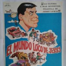 Cinema: CARTEL CINE, EL MUNDO LOCO DE JERRY, 1983, C168. Lote 108871471