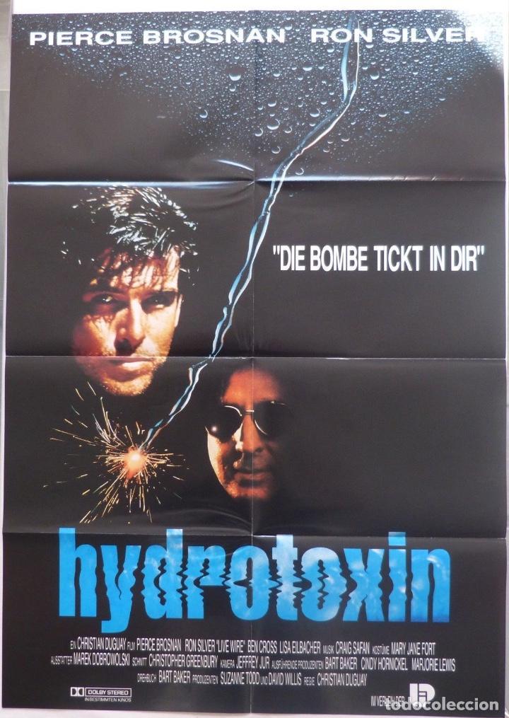 HIDROTOXIN FOLDED MOVIE POSTER,GERMAN ,A1,PIERCE BROSNAN/RON SILVER (Cine - Posters y Carteles - Acción)